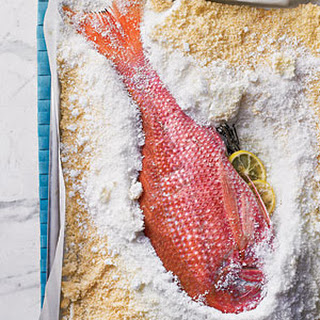 Salt-Roasted Whole Red Snapper.