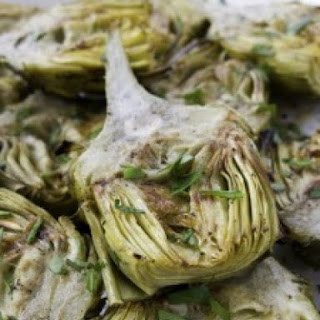 Grilled Artichoke Hearts with Herb Butter.