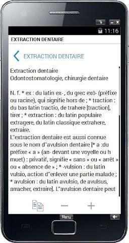 android Termes médicaux Screenshot 1