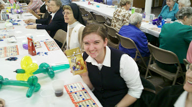 Photo: Youngest nun (21 years old) with her prize.