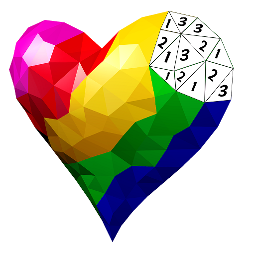 Poly Art 3D - Color by Number, 3D Coloring Puzzle Icon