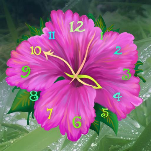 Flower Clock Live Wallpaper Apps On Google Play