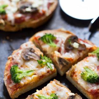 Mushroom + Broccoli Quinoa Pizza