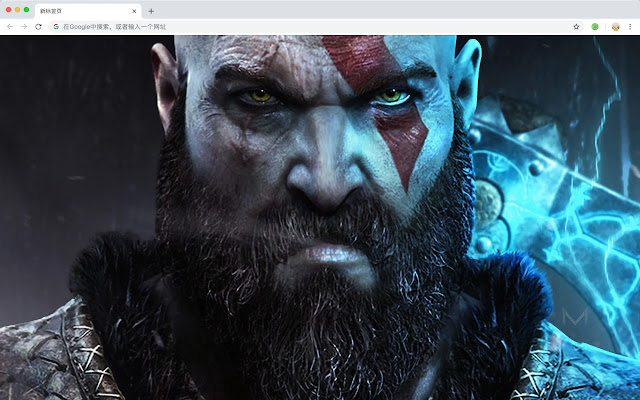 God of War Popular Games HD New Tabs Theme