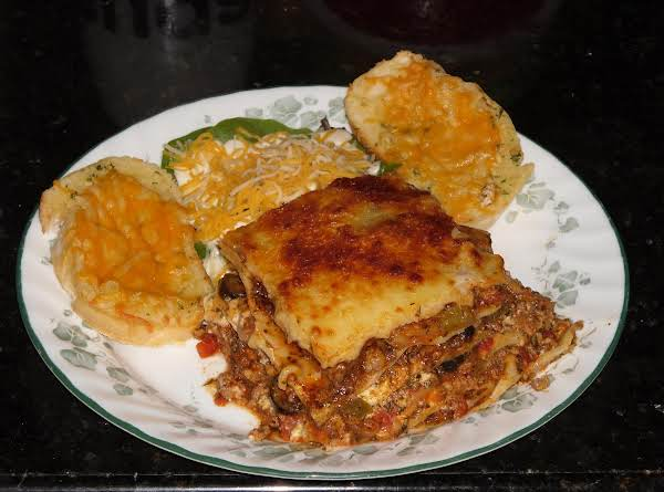 This Is A Actual Picture Of The Lasagna.