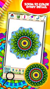 Uvolnit Mandala omalovánky k vytisknutí - náhled