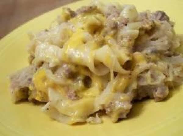 Sauerkraut Hotdish