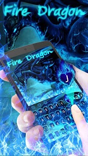 Blue Fire Dragon Keyboard- screenshot thumbnail