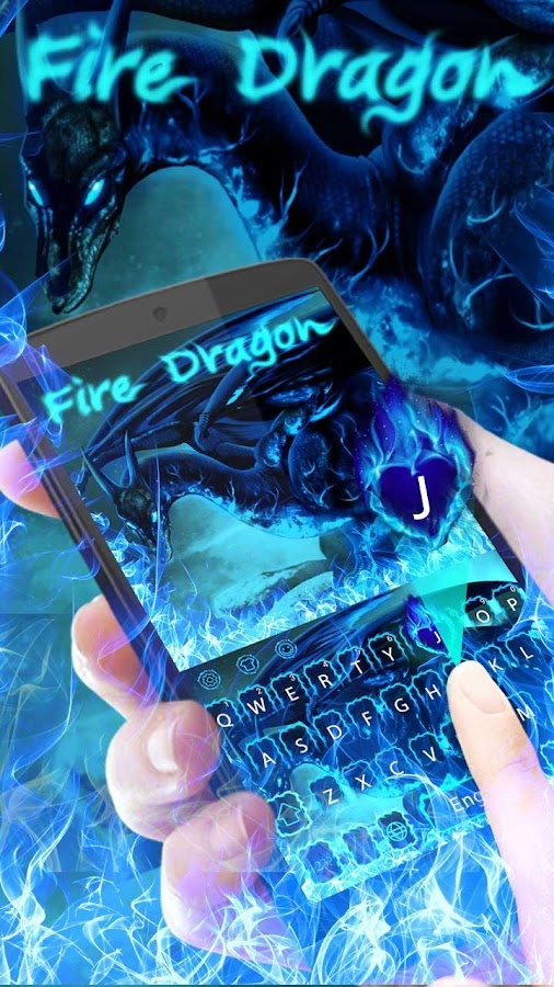 Blue Fire Dragon Keyboard- screenshot
