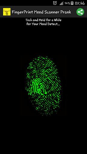 指纹扫描仪情绪恶作剧