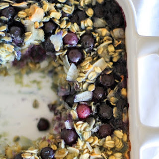 Blueberry Baked Oatmeal (Dairy-Free & Gluten-Free).