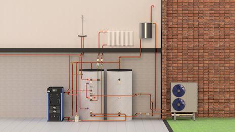 BAXI Ved & Luft Vatten/Värmepumps paket