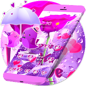 Purple Love Rose Valentine Theme