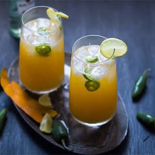 Tall Mango Jalapeno Fizzy Cocktail.