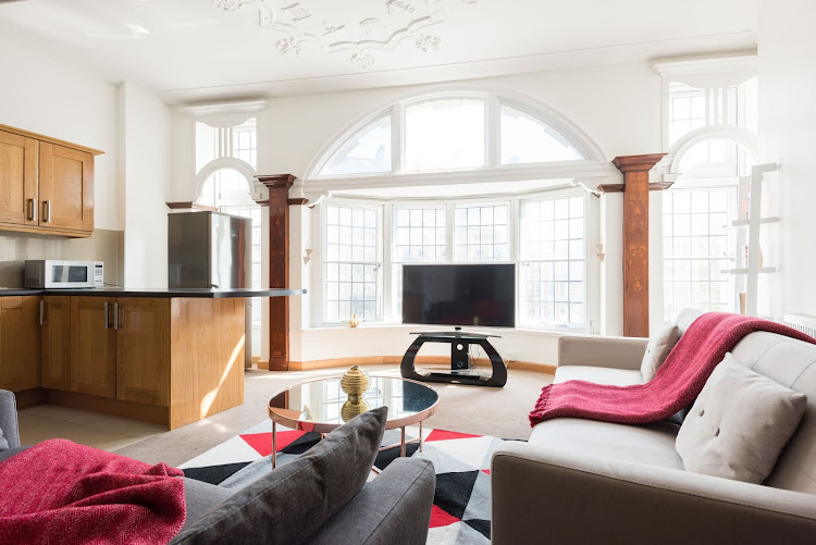 Comfy living area at The College Green Loft
