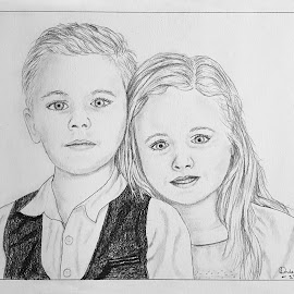 Ash & Lau by Ingrid Anderson-Riley - Drawing All Drawing