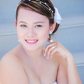 Mallows by Ryan Lemil Escarpe - Wedding Bride ( glamour, sexy, fashion, wedding photography, wedding day, weddings, wedding, cebu, white, wedding dress, high quality, beauty, engagement )