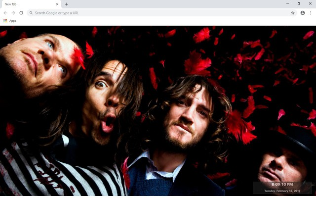 Red Hot Chili Peppers New Tab