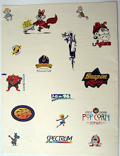 Photo: This is the back cover of the Temporary Tattoo brochure. At the time (1994), all the Nickelodeon characters were very popular at the time; we printed several million of them, that went into Cheerios boxes.