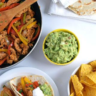 30-Minute Mexican Lime Chicken Fajitas + Easy Guacamole