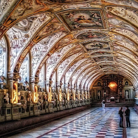 Residenz Museum, Munich by Andrea Conti - Buildings & Architecture Other Interior ( munich, antiquarium, residenz, germany, museum, reinassance, museo, hall of antiquities, Architecture, Ceilings, Ceiling, Buildings, Building )