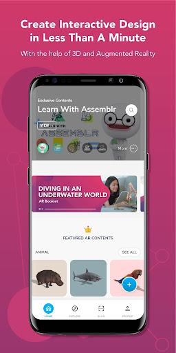 Assemblr - Make 3D Images & Text, Show in AR! 3.309 screenshots 1