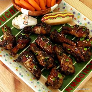 Mahogany Baked Chicken Wings for #SundaySupper