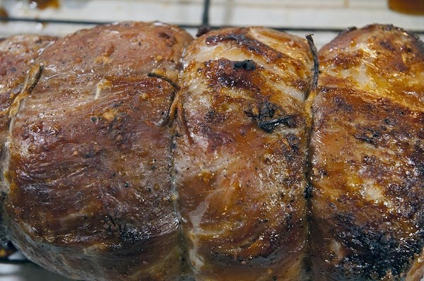 Remove from the oven when the internal temperature of the pork reaches 160f (71c),...