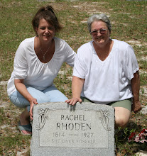 Photo: Great Great Great Grandmother Rachel Rhoden with Denise Davis Cento and Lory Chancy