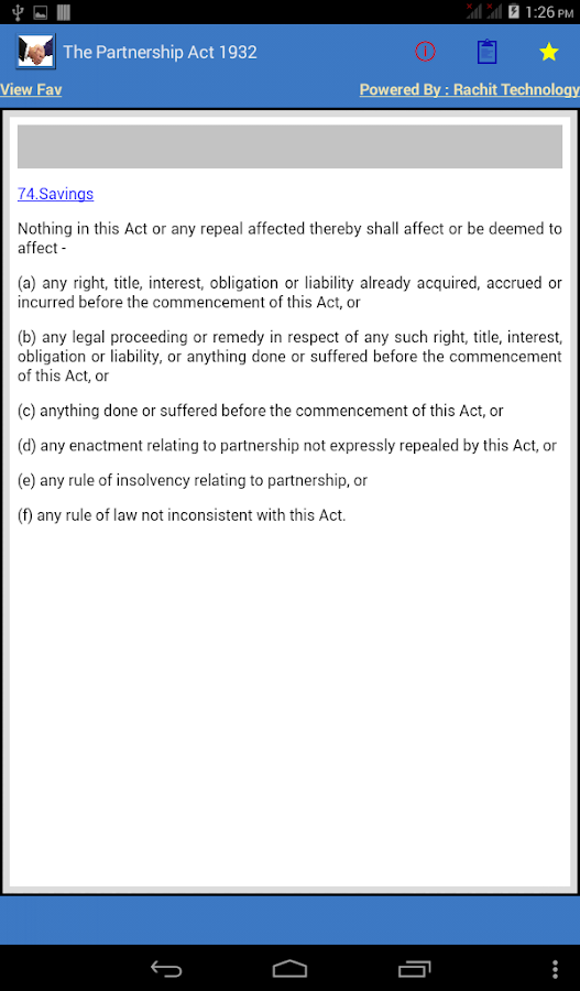 The Partnership Act 1932- screenshot