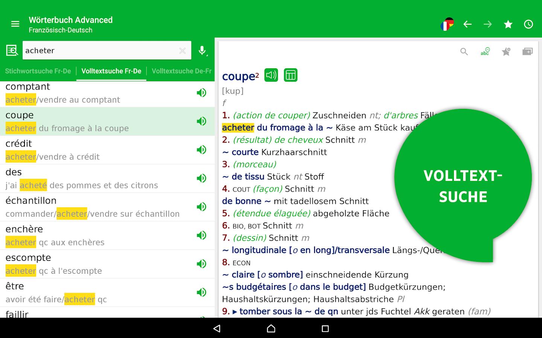 Worterbuch deutsch franzosisch offline