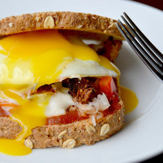 Breakfast Pizza Sandwich.
