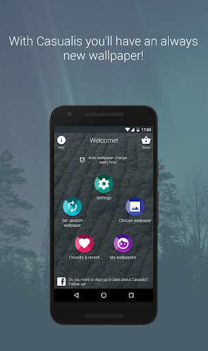 Casualis:Auto wallpaper change  screenshots 1