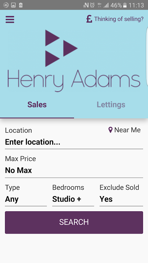Henry Adams Property Search- screenshot