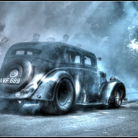 Smoking start by Stephen Carr - Transportation Automobiles ( hotrod, car, hdr, smoke, drag, wheelspin )