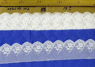 Photo: №822529-30綿チュールレースオフ:巾50㎜ (242529)