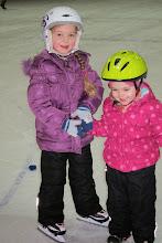 Photo: Girls ice skating.
