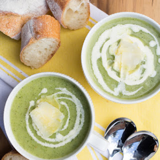 Healthy Vegetarian Zucchini Soup.