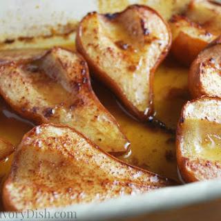 Roasted Maple Pears #SundaySupper