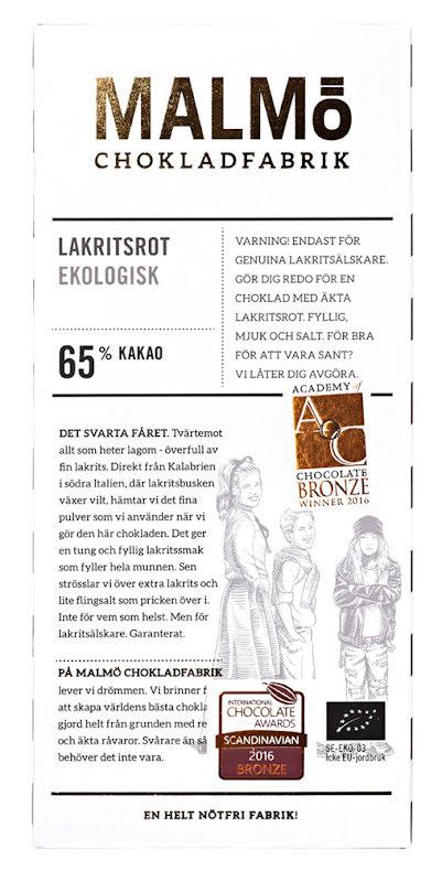 Lakritsrot – mörkchoklad 65 % - Malmö Chokladfabrik