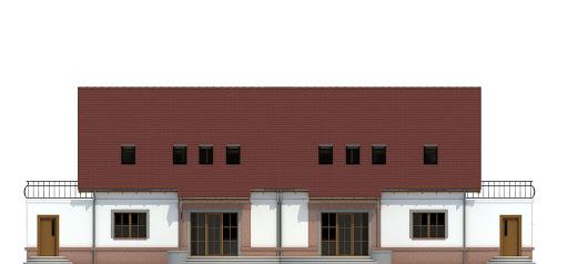 Sosnówka II z garażem 1-st. bliźniak A-BL2 - Elewacja tylna