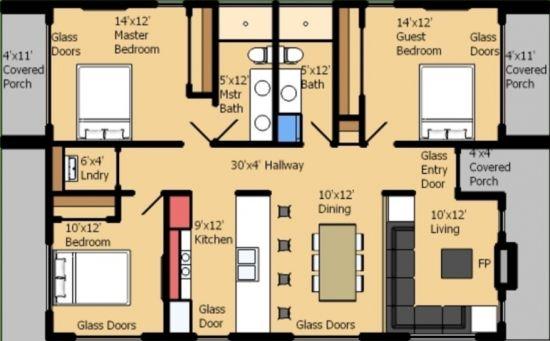 casa rectangular 4