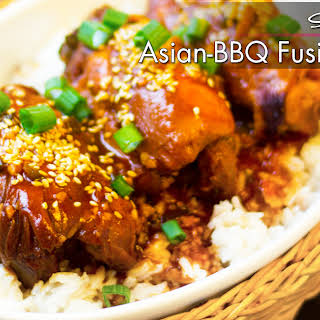 Slow Cooker Asian-BBQ Fusion Chicken.