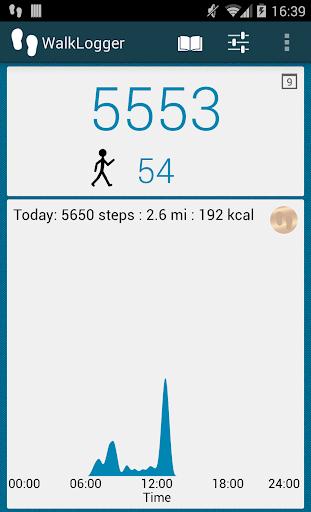 WalkLogger pedometer screenshot 1