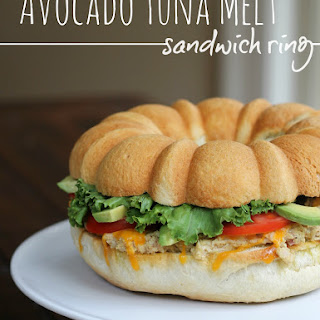 Avocado Tuna Melt Sandwich Ring
