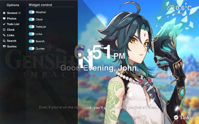Genshin Impact Hd Wallpapers New Tab Chrome Web Store