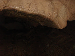 Photo: looking up inside the cave