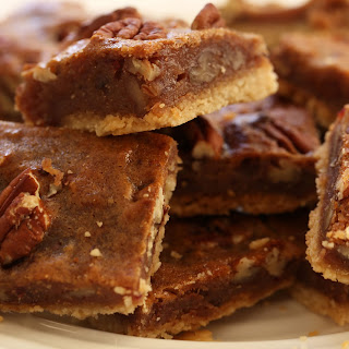 Gluten Free Pecan Bars.