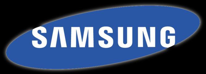 samsung logo fondo negro