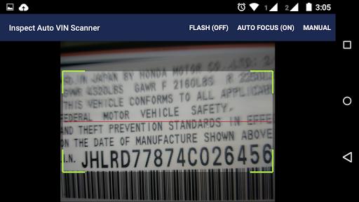 Inspect Auto VIN Scanner